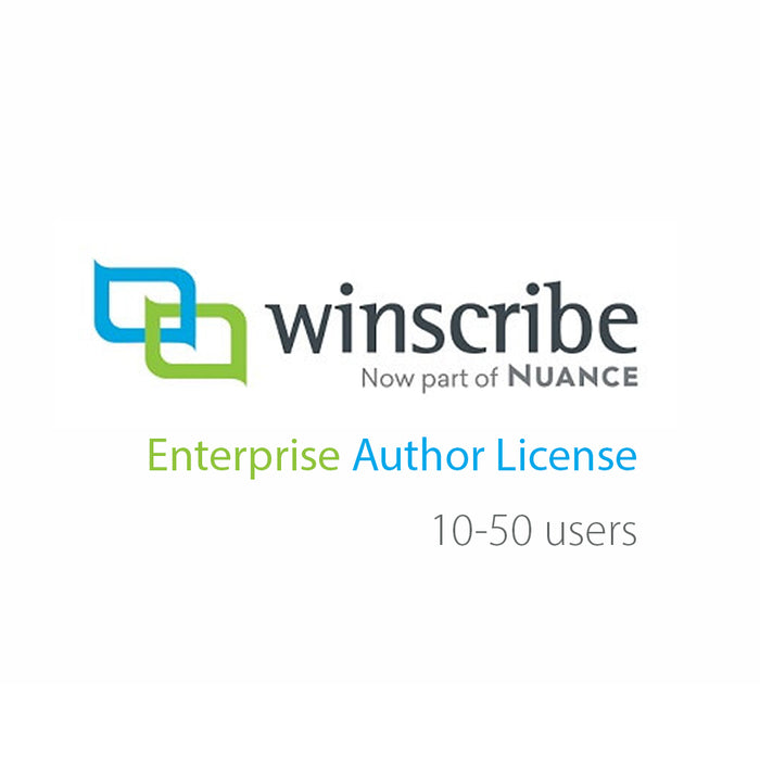 Nuance Winscribe Enterprise Author License (10-50 Users) - Speak-IT Solutions LTD