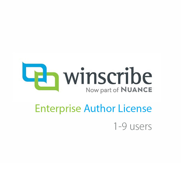Nuance Winscribe Enterprise Author License (1-9 Users) - Speak-IT Solutions LTD