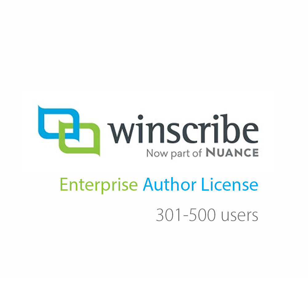 Nuance Winscribe Enterprise Author License (301-500 Users) - Speak-IT Solutions LTD