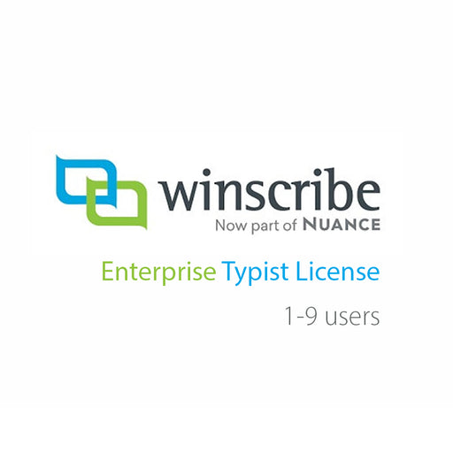 Nuance Winscribe Enterprise Typist License (1-9 Users) - The Speech Shop