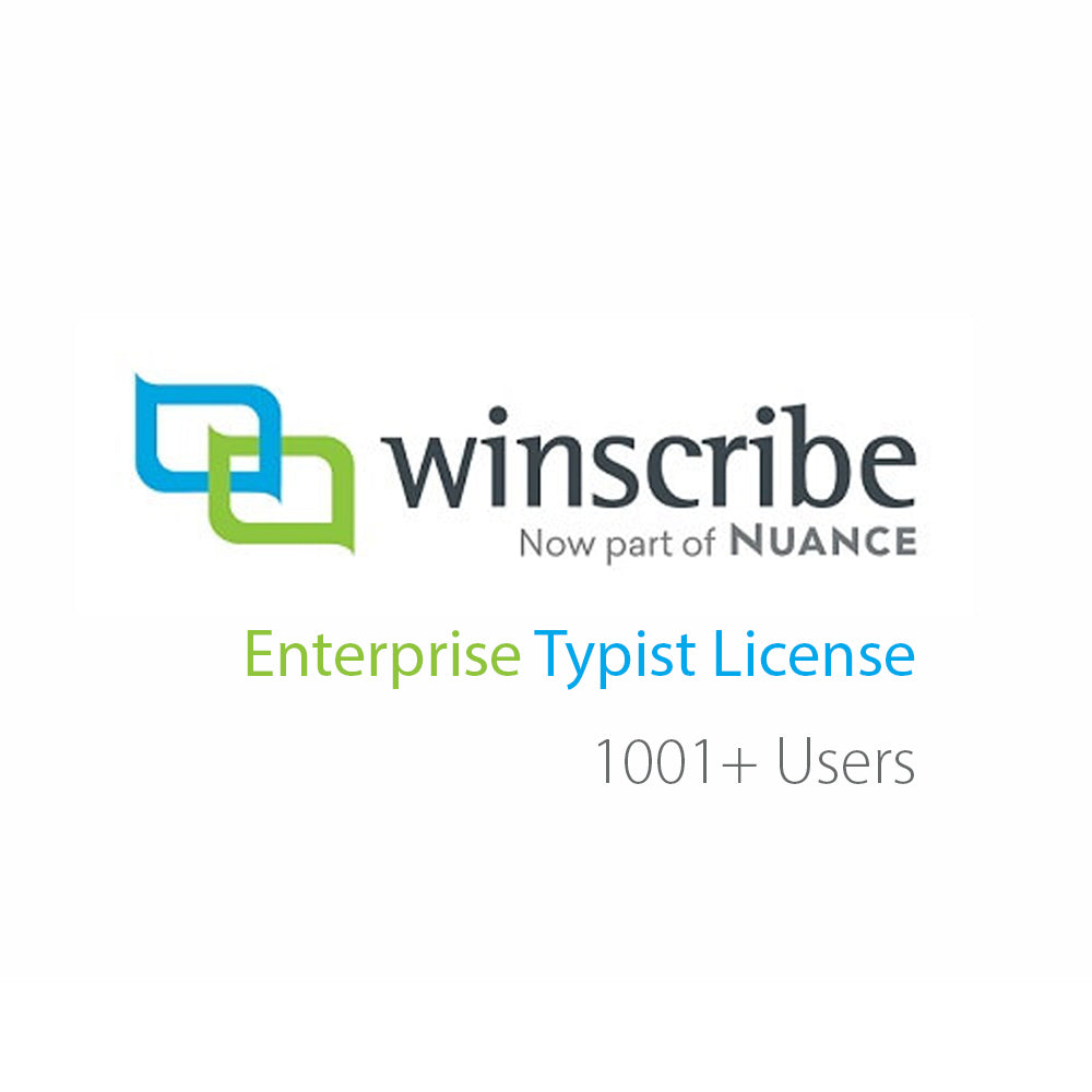 Nuance Winscribe Enterprise Typist License (1000+ Users) - Speak-IT Solutions LTD