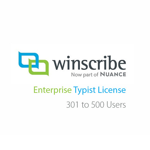 Nuance Winscribe Enterprise Typist License (301-500 Users) - Speak-IT Solutions LTD