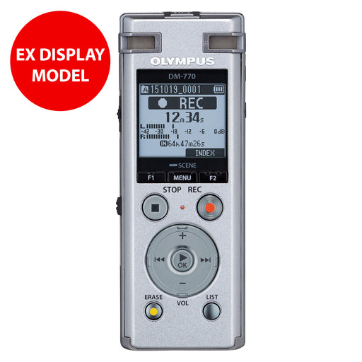 Olympus DM-770 Assistive Digital Voice Recorder (Slightly Damaged Packing - Device as new)