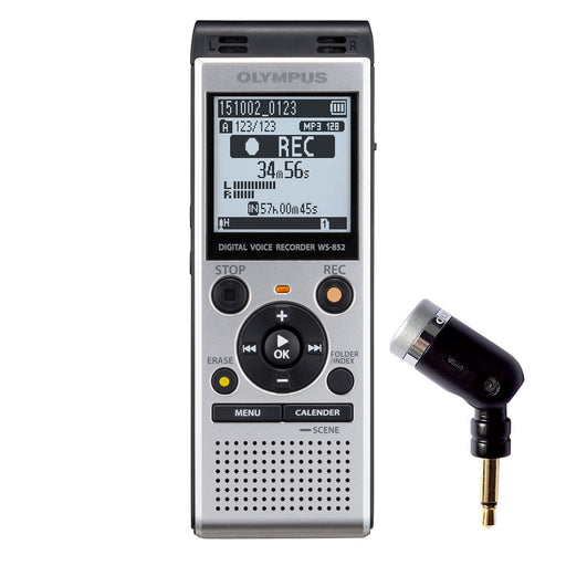 Olympus WS-852 4GB with ME-52 Uni-Directional Microphone - The Speech Shop