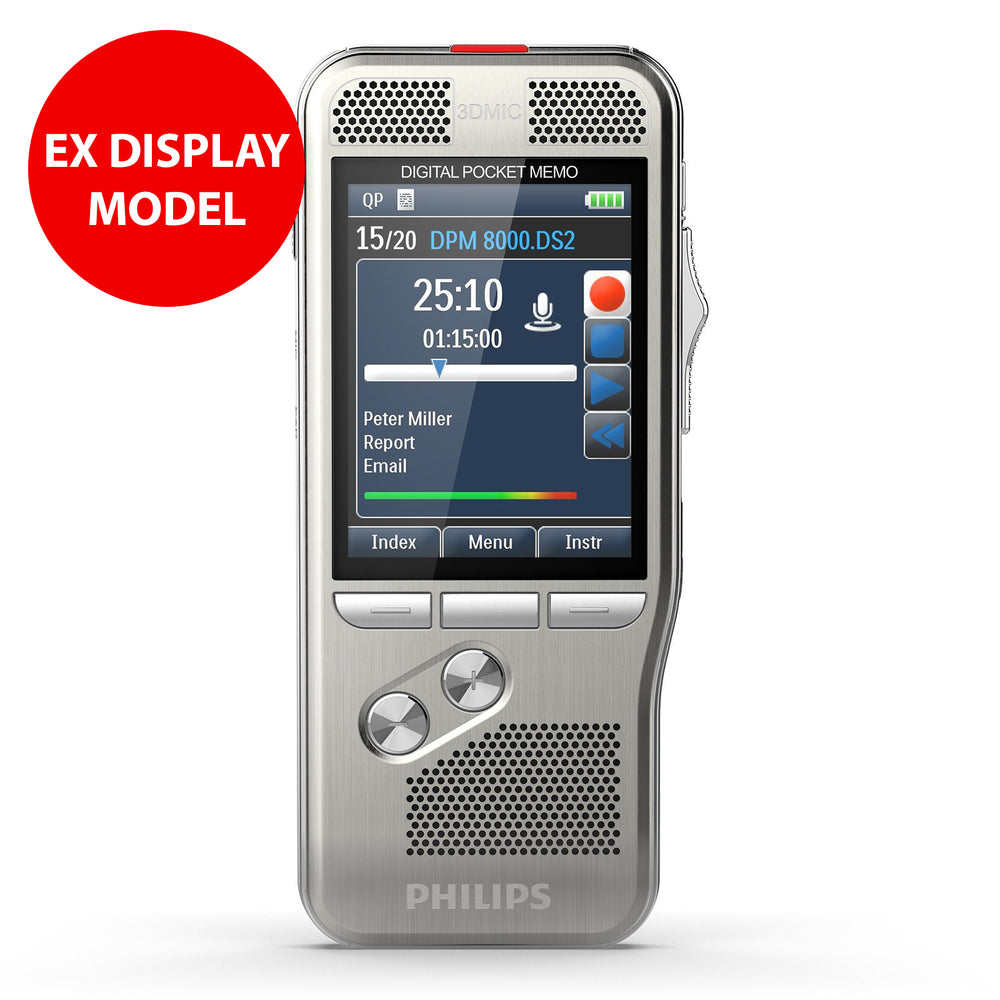 Philips DPM8100 Digital PocketMemo (Ex Display, No Box)