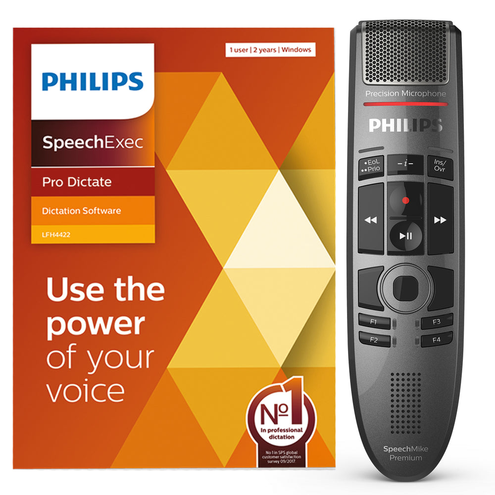 Philips SMP3700 SpeechMike Premium Touch with SpeechExec Pro Dictate V11 Software - Speak-IT Solutions LTD