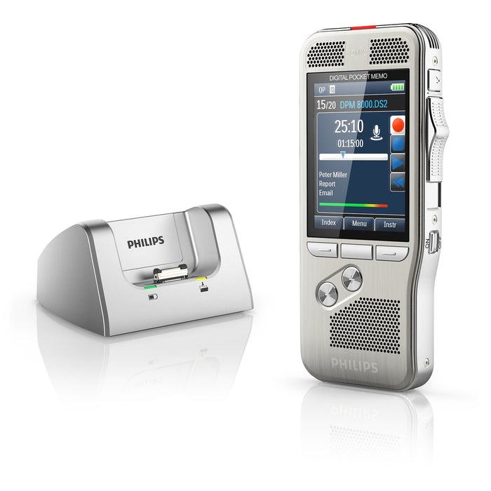 Philips DPM8500 Digital PocketMemo with Barcode Scanner - Speak-IT Solutions LTD