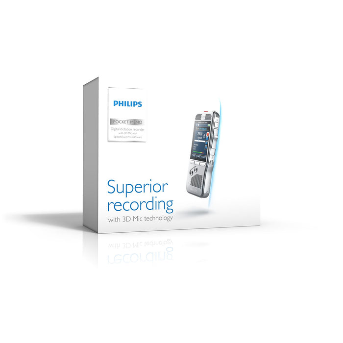 Philips DPM8000 Digital PocketMemo with SpeechExec Pro Dictate V11 & Dragon Professional Individual V15 - Speak-IT Solutions LTD
