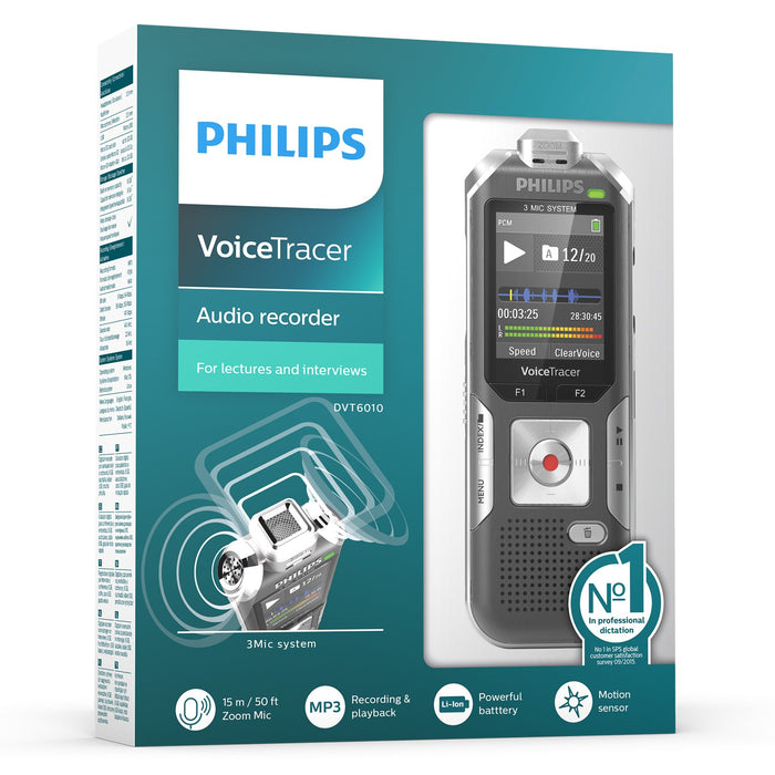 Philips DVT6010 Digital VoiceTracer - Speak-IT Solutions LTD