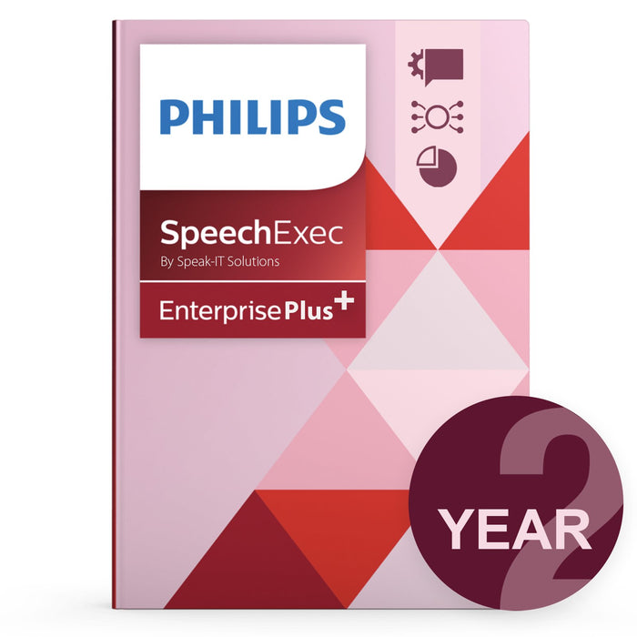 Philips LFH7352/00 SpeechExec Enterprise - Concurrent User License Plus (2 Year) - Speak-IT Solutions LTD