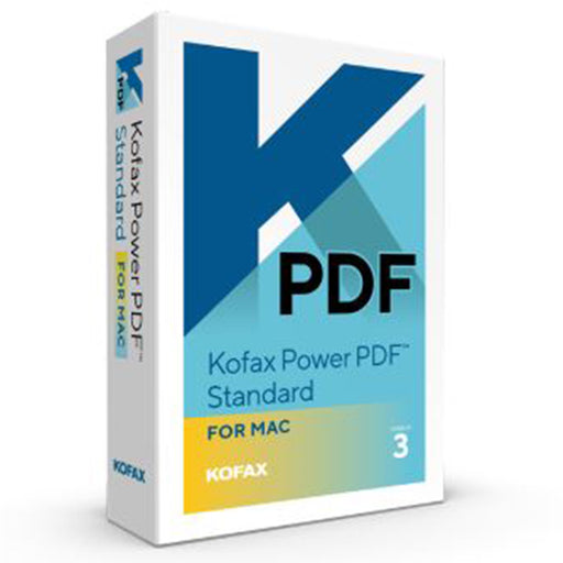 Kofax Power PDF 3 Standard for Mac (Download) - Speak-IT Solutions LTD