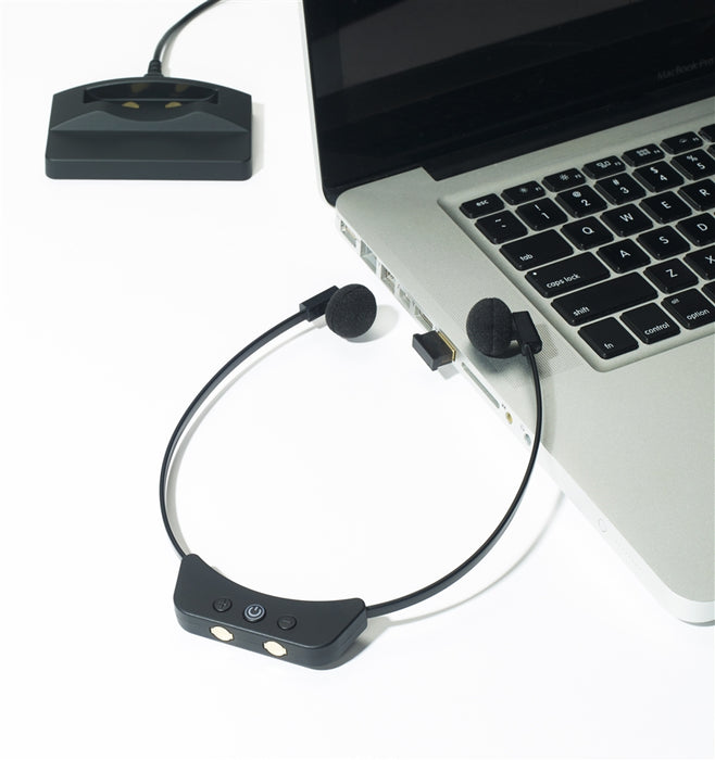 Spectra SP300BT Wireless Transcription Headset - Speak-IT Solutions LTD