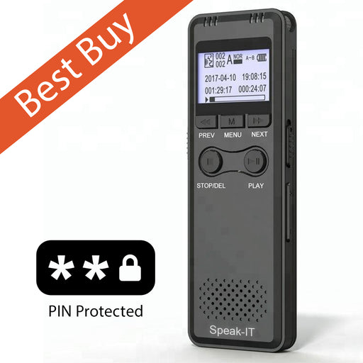 Speak-IT Premier Password Protected 8 GB Telephone Recorder - The Speech Shop