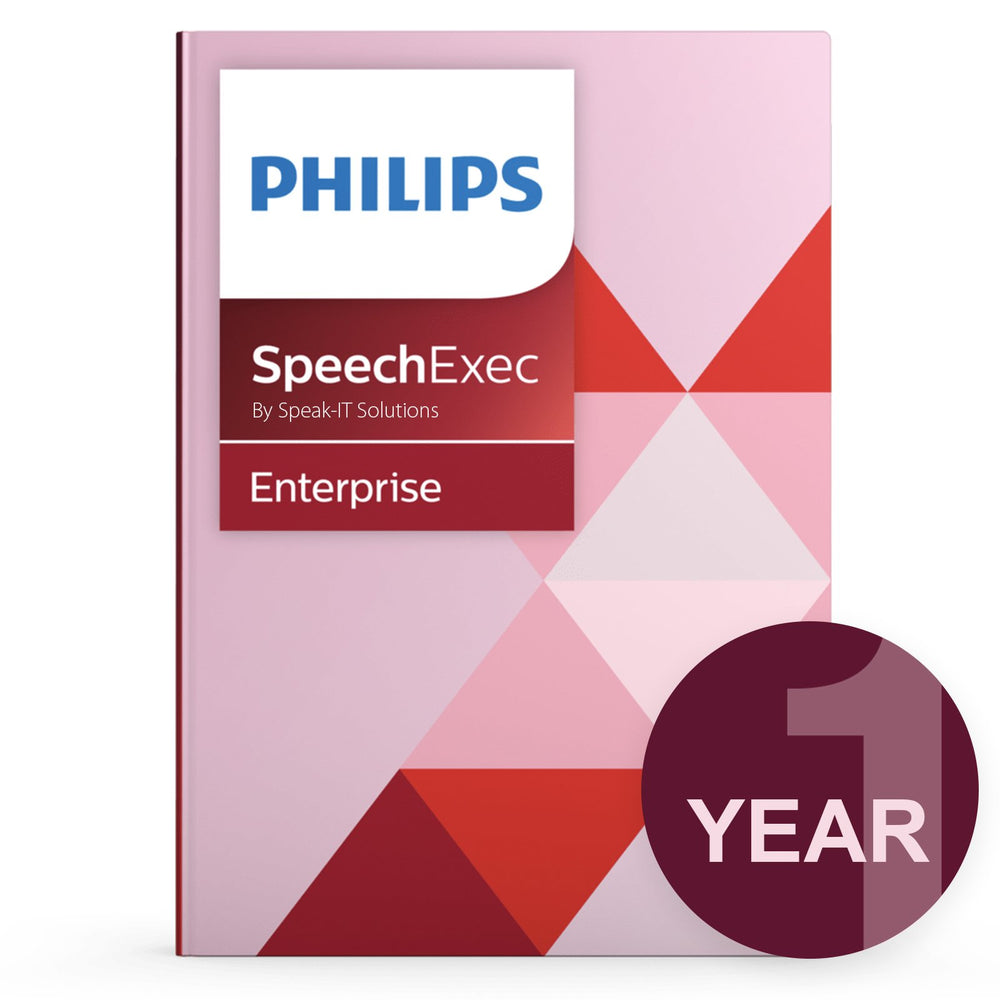 Philips LFH7353/00 SpeechExec Enterprise - Concurrent User License (1 Year) - Speak-IT Solutions LTD