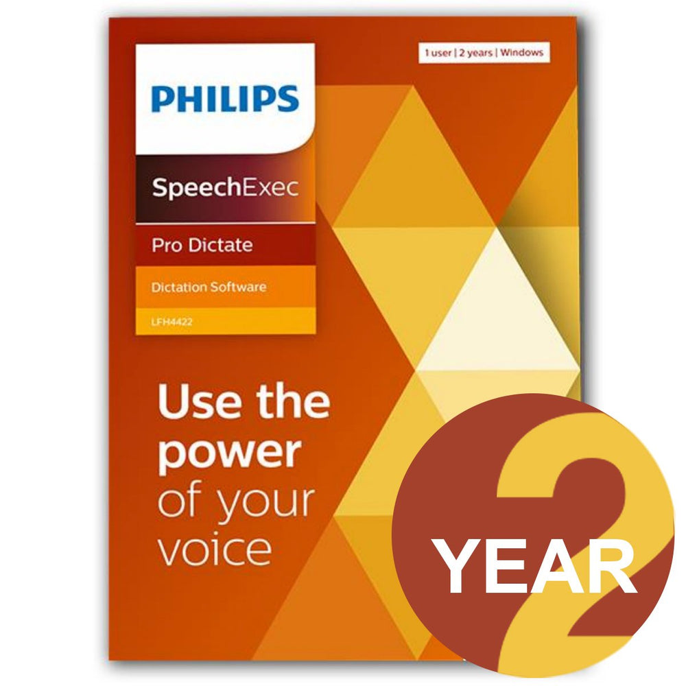 Philips LFH4412/02 SpeechExec Pro Dictate V11 Software 2 Year License - Instant Download - Speak-IT Solutions LTD