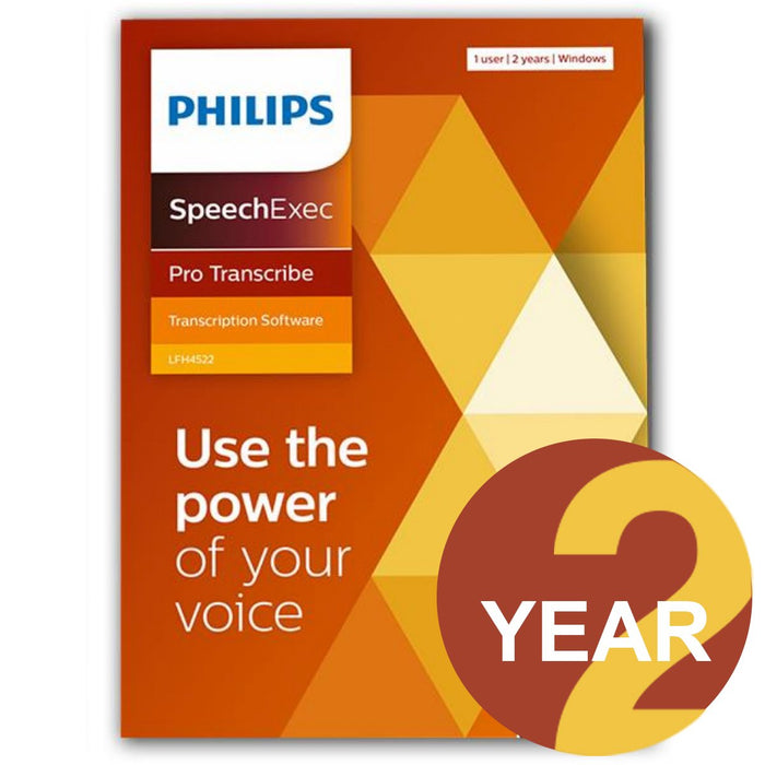 Philips LFH4522/00 SpeechExec Pro Transcribe V11 Software - 2 Year License - Boxed Product - Speak-IT Solutions LTD