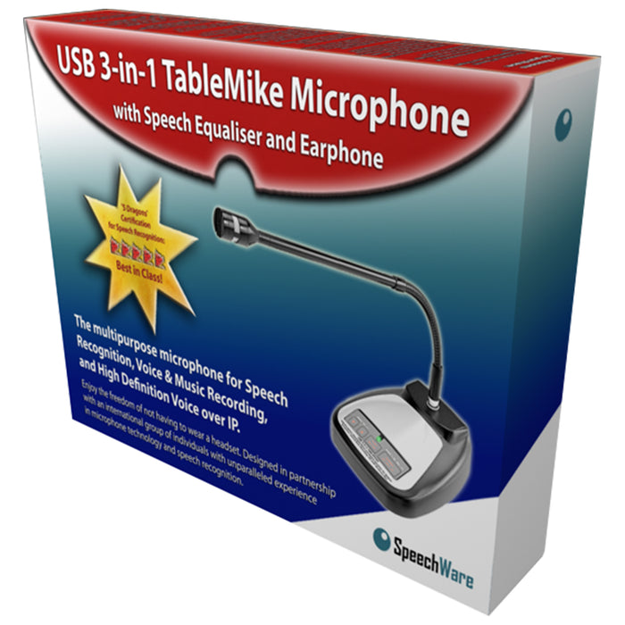 SpeechWare TableMike 3-in-1 USB Microphone with 40cm Microphone Boom Arm