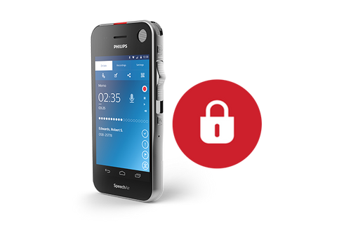 SpeechLive uses end-to-end encryption