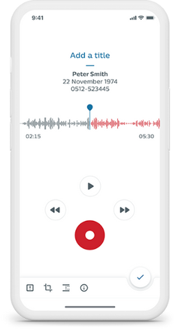 Philips Voice Recorder App for iOS and Android