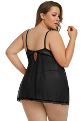 Plus Size Sexy Babydoll - Black