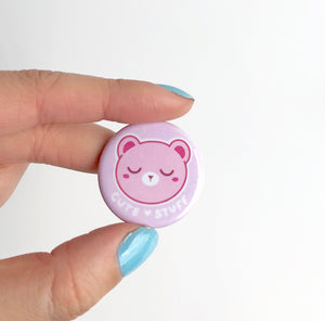 Kawaii Cute Stuff Bear Button
