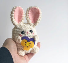 Flower Gift Bunny Bean, OOAK Rabbit Plush