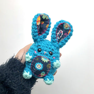 Colorful Spring Bunny Bean, OOAK Rabbit Plush