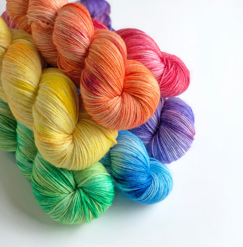 Rainbow Fade Set | DYED TO ORDER | Sock Yarn