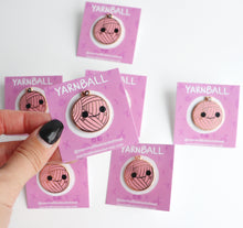 Yarnball Pin, Pink Yarn Enamel Pin