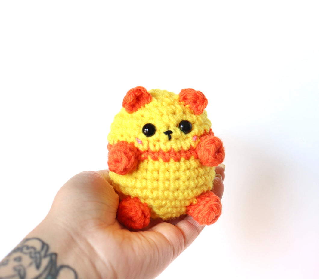 Bright Sunny Panda, OOAK Mini Teddy Bear Bean