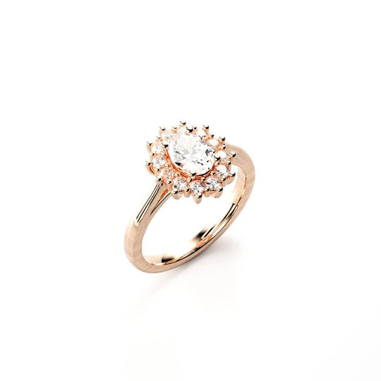 Gold moissanite ring