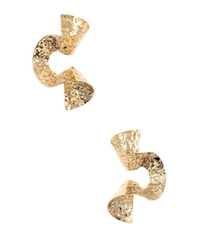 TWISTED ll' GOLD HAMMERED EARRINGS