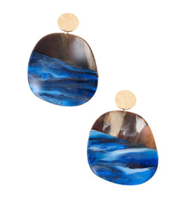ROYAL EARTH' CIRCLE DROP TWO-TONE EARRINGS