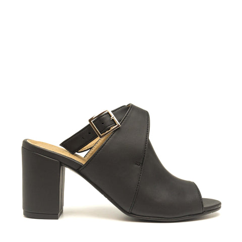 ATIK BLACK OPEN BACK PEEP TOE SHOES