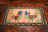 Vintage Georgian Kilim with Colourful Rooster