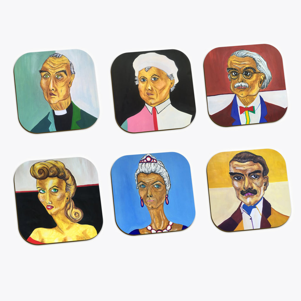 Cluedo Coasters pack of 6
