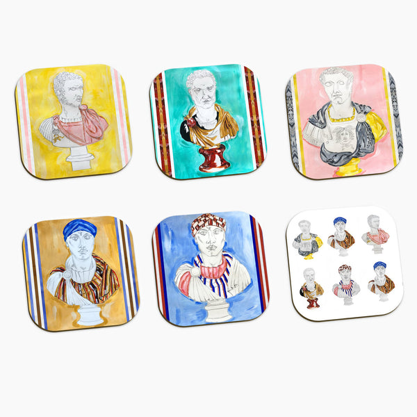 Emperor Print Coasters set of 6