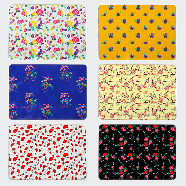 Floral Placement Mats set x 6