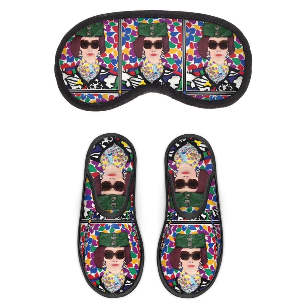 Tata Naka Printed Eye Mask and Sleeper Set