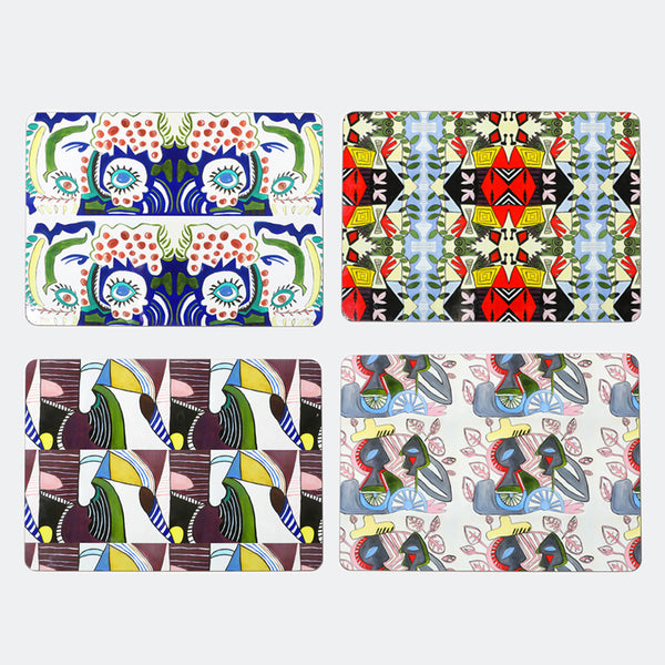 Geometric Print Placement Mats set of 4