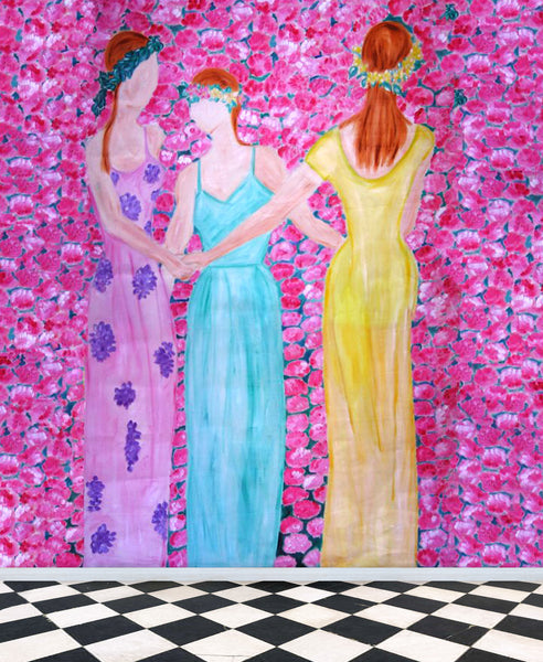Dancing Women on Carnations