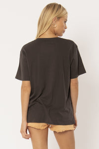 Hello Paradise Knit Tee Charcoal