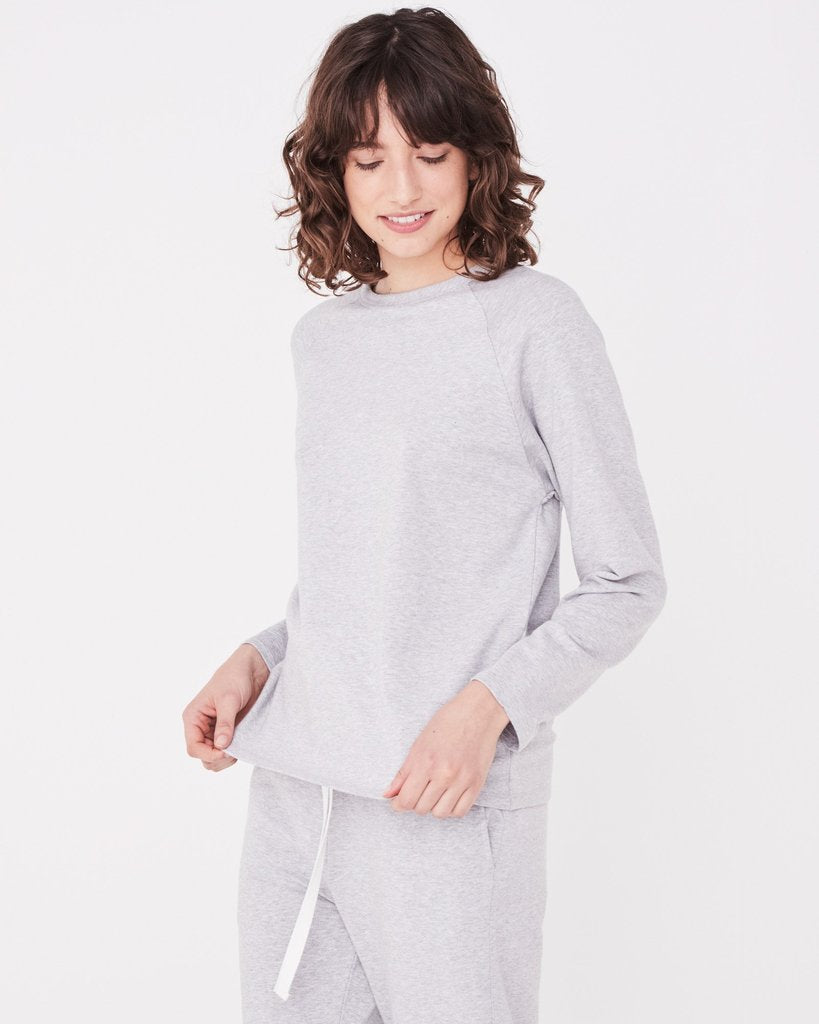 Kin Fleece Top Grey Marle