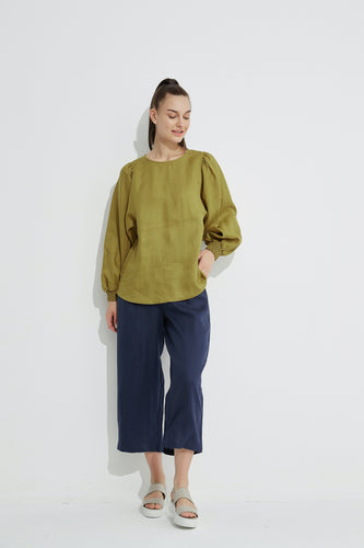 Blouson Sleeve Top Olive