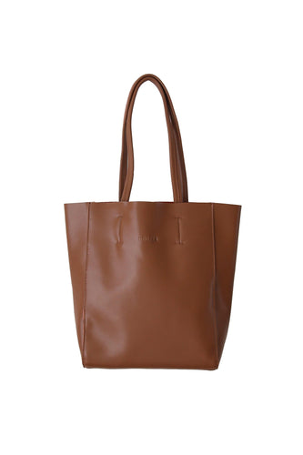 Large Portrait Tote - Brown