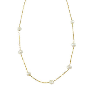 Fresh Water Pearl Necklace - Gold