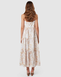 Isabella Maxi Dress Floral Forest Chocolate