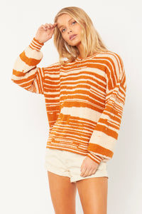 Donna L/S Knit Sweater RUM