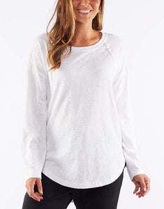 Mackenzie Long Sleeve Crew White
