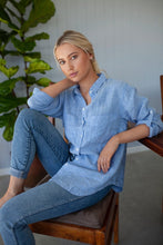 The Boyfriend Linen Shirt Blue Chambray